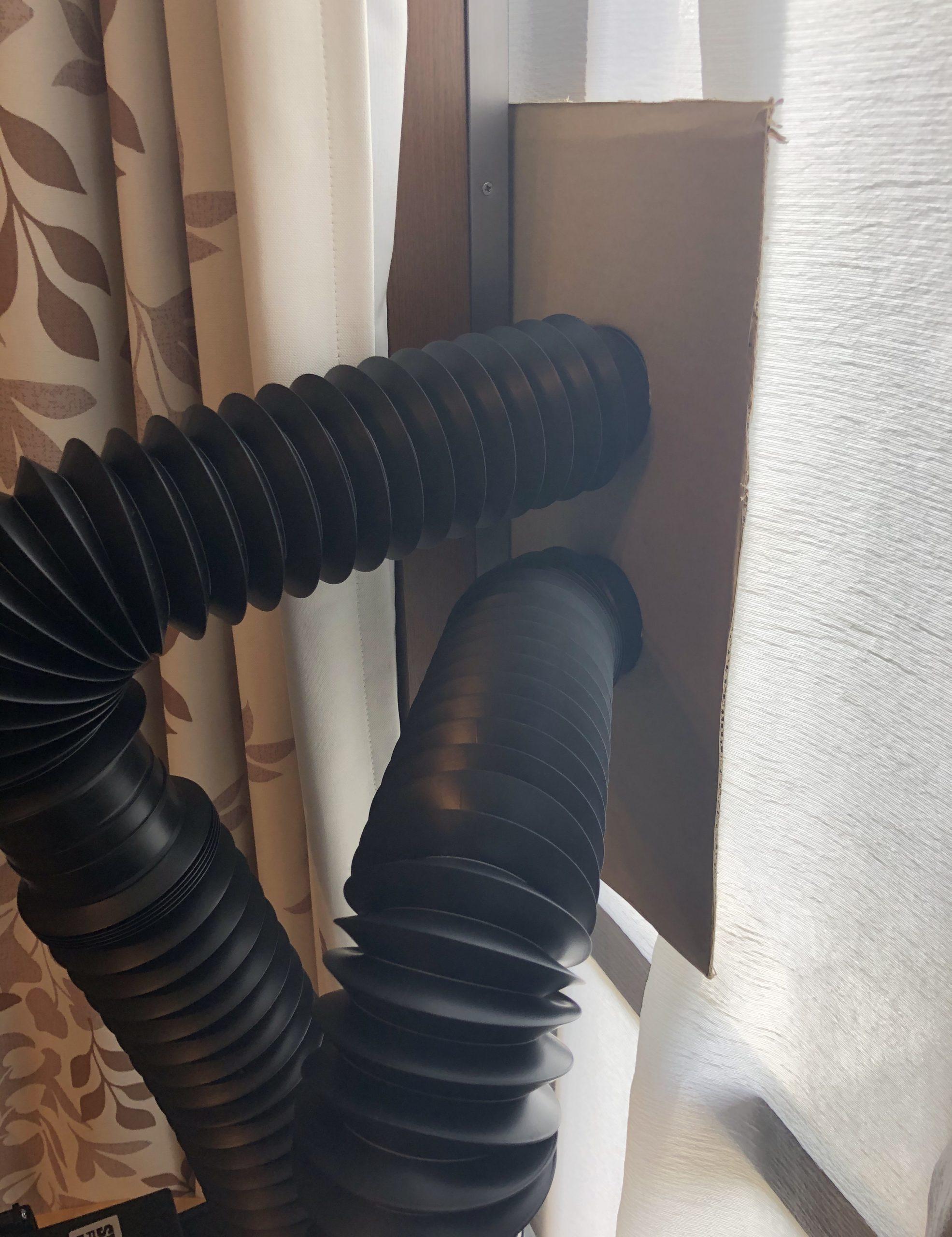 タミヤ ペインティングブース ツインファン 排気口の設置
